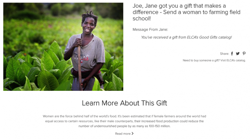 Send a woman to farming field school