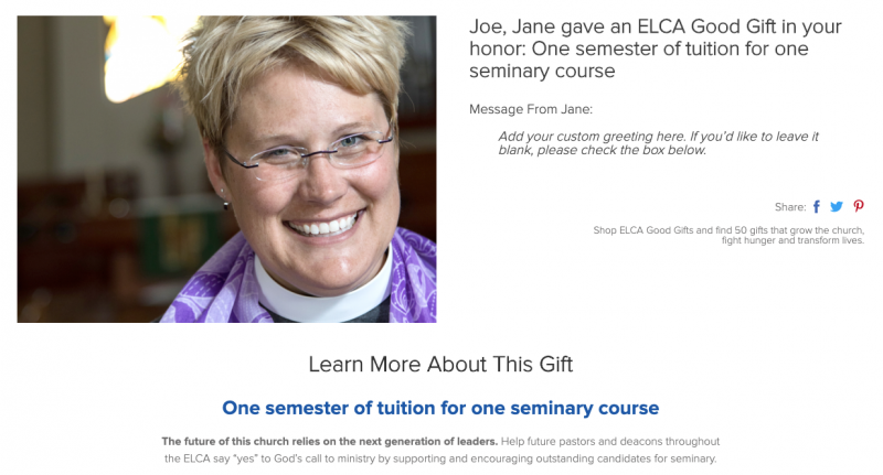 One semester of tuition for one seminary course