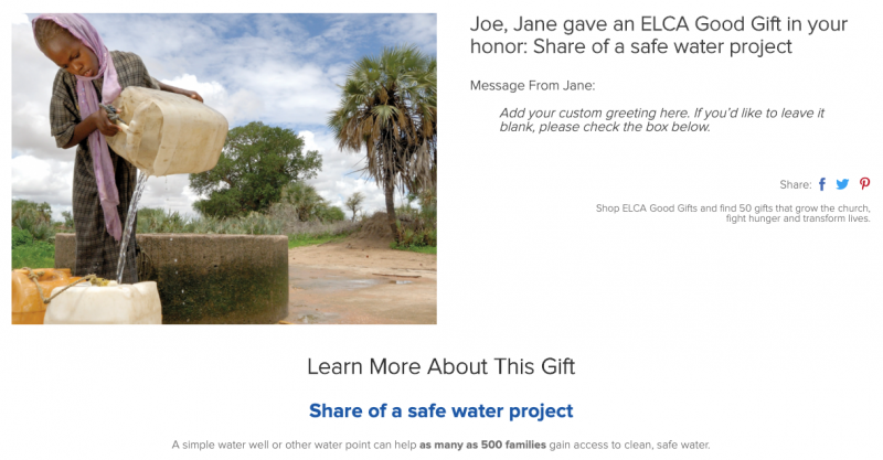 Share of a water well
