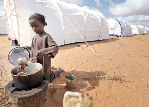 Feed a refugee family for a month